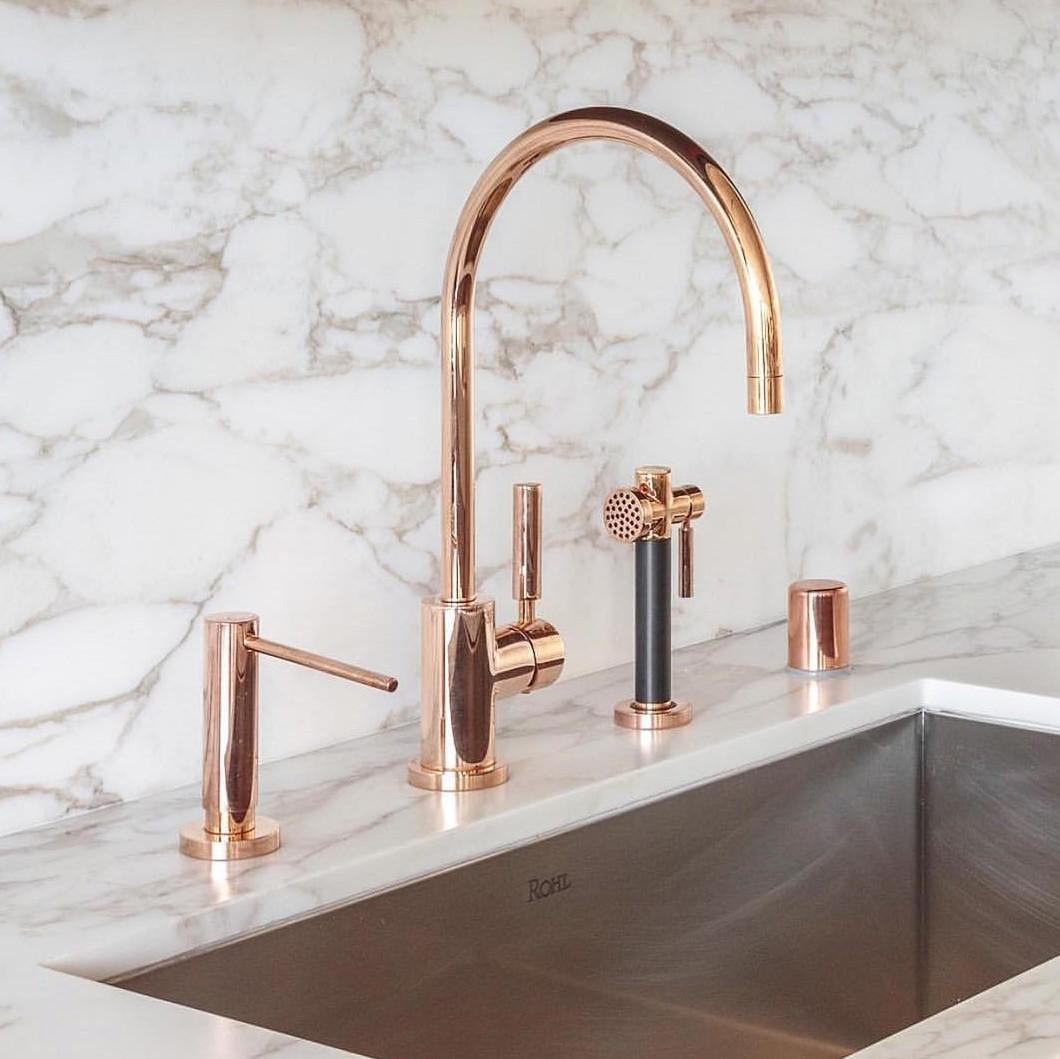 rubinetto oro rosa 2